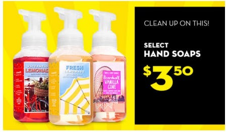 $3.50 Select Hand Soaps from Bath & Body Works/White Barn