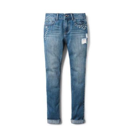 Bebe Embellished Destructed Jeans from Crazy 8