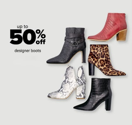 Up to 50% Off Designer Boots from Belk