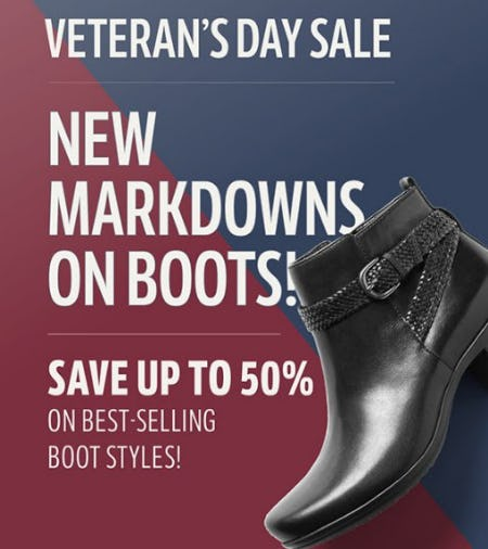 Veteran's Day Sale from THE WALKING COMPANY