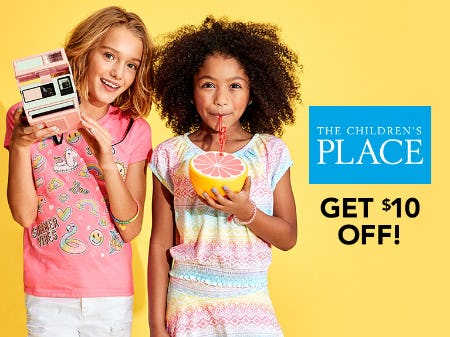 Shop The Children's Place with $10!
