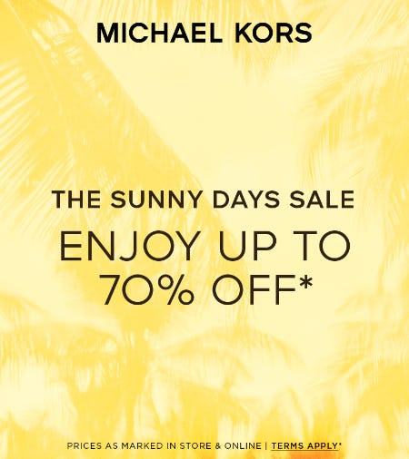ENJOY UP TO 70% OFF* from Michael Kors