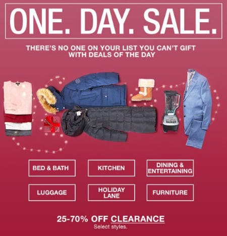 One Day Sale from macy's
