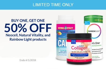 BOGO 50% Off Neocell Products & More from The Vitamin Shoppe