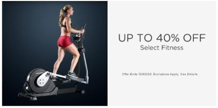 Up to 40% Off Select Fitness from Sears