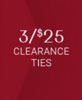 3 for $25 Clearance Ties from Men's Wearhouse and Tux