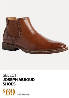 Select Joseph Abboud Shoes $69 from Jos. A. Bank