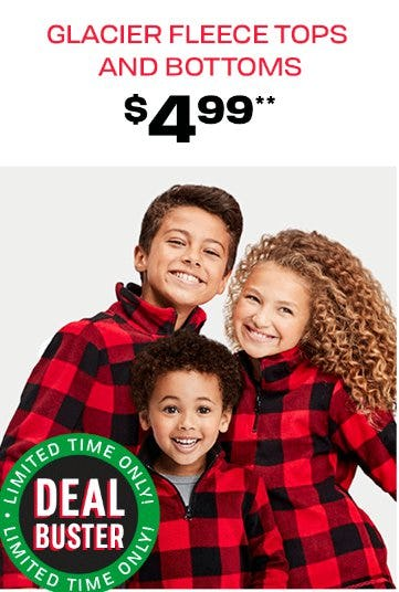 Glacier Fleece Tops and Bottoms $4.99 from The Children's Place Gymboree