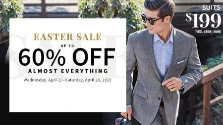 Up to 60% Off Almost Everything from Jos. A. Bank