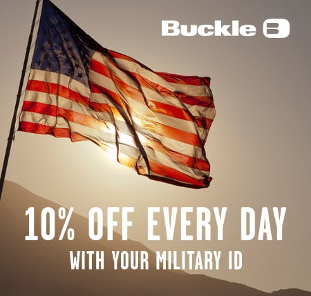 10% Off Military Appreciation Discount