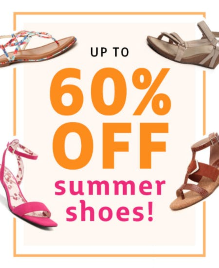 Up to 60% Off on Summer Shoes from Stein Mart