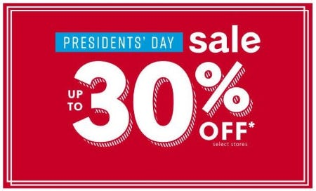 Presidents' Day Sale from Ashley Homestore