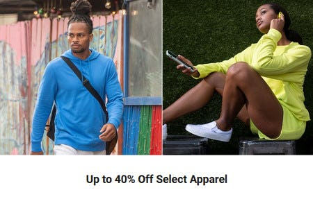 Up to 40% Off Select Apparel from Dick's Sporting Goods
