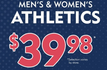 Men's & Women's Athletics $39.98 from Shoe Carnival