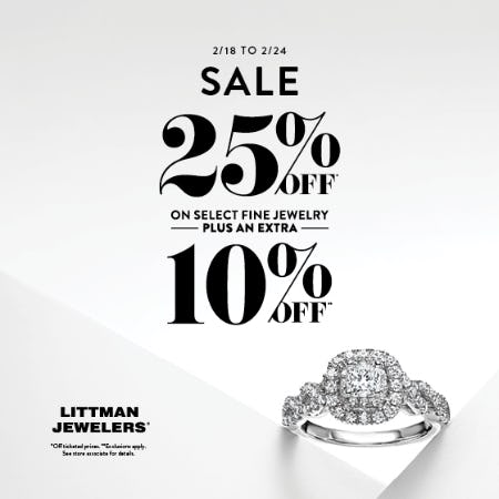 February 7 Day Sale from Littman Jewelers