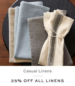 25% Off All Linens from Pottery Barn