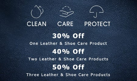 Shoe Care Products Up to 50% Off