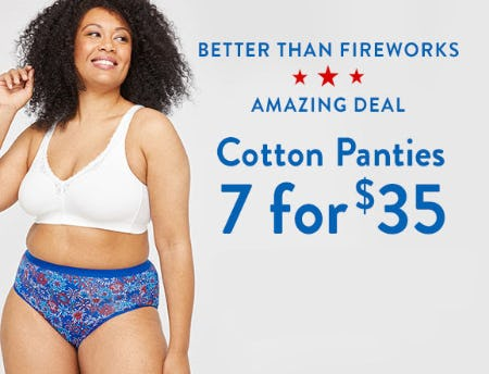 Amazing Deal: 7 for $35 Cotton Panties from Catherines Plus Sizes