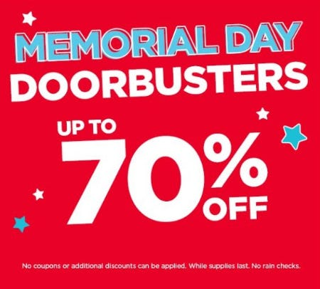 Memorial Day Doorbusters up to 70% Off from Michaels