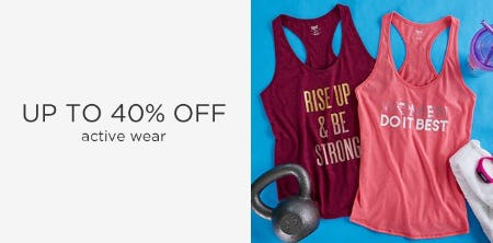 Up to 40% Off Activewear from Sears