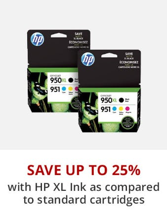 Save Up to 25% with HP XL Ink from Office Depot