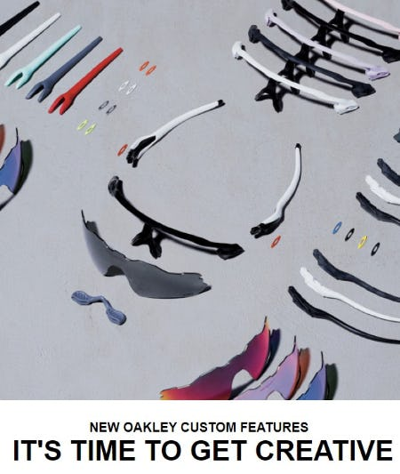 Discover New Oakley Custom Features