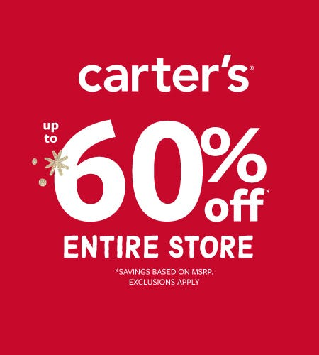 What A Gift! Up to 60% Off Entire Store from Carter's Oshkosh