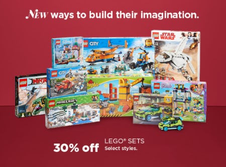 30% Off Lego Sets from Kohl's