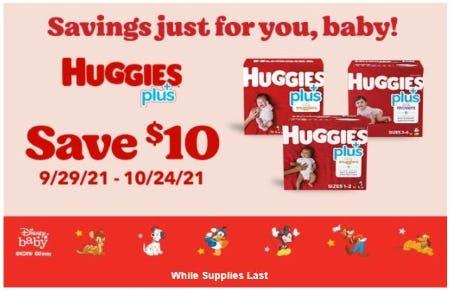$10 Off Huggies Plus from Costco