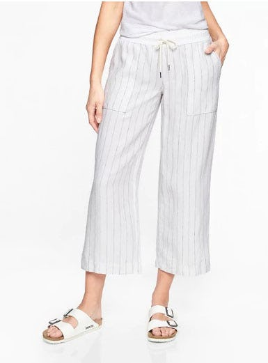 Stripe Bali Linen Crop from Athleta