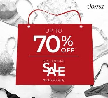 Semi Annual Sale from Soma Intimates