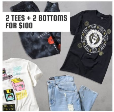 2 Tees + 2 Bottoms for $100 from Zumiez