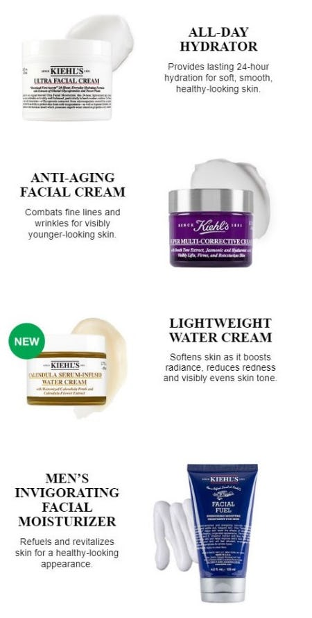 Explore Our Mega Moisturizers from Kiehl's