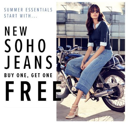 New Soho Jeans Buy One, Get One Free from New York & Company