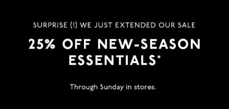 25% Off New-Season Essentials from Madewell