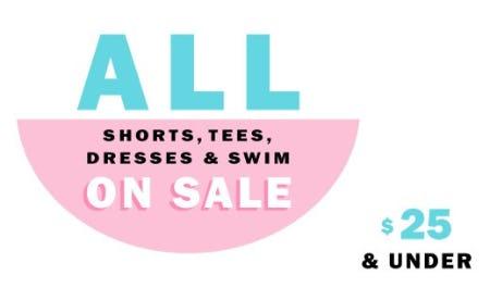 All Shorts, Tees, Dresses & Swim on Sale