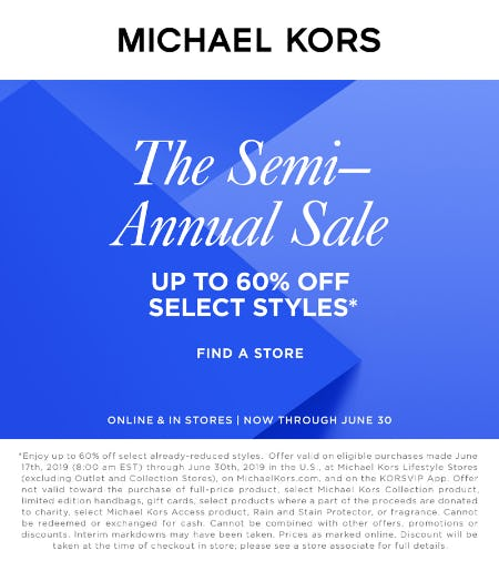 The Semi-Annual Sale from MICHAEL KORS