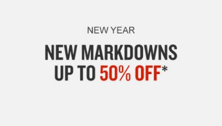 New Markdowns up to 50% Off