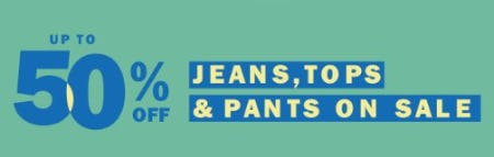 Up to 50% Off Jeans, Tops & Pants on Sale from Old Navy