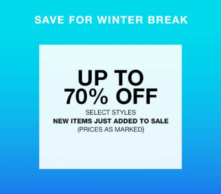 Up to 70% Off Wear-Now Vacation Styles from Everything But Water
