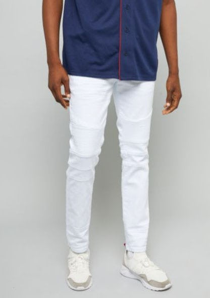 White Slim Skinny Moto Jeans from rue21