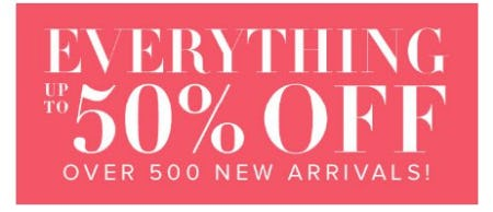 Everything up to 50% Off from New York & Company