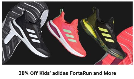 30% Off Kids' Adidas FortaRun and More