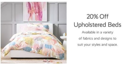 20% Off Upholstered Beds from Pottery Barn Kids