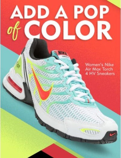 Colorful Styles from Nike from Shoe Carnival