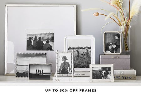 Up to 30% Off Frames from Pottery Barn
