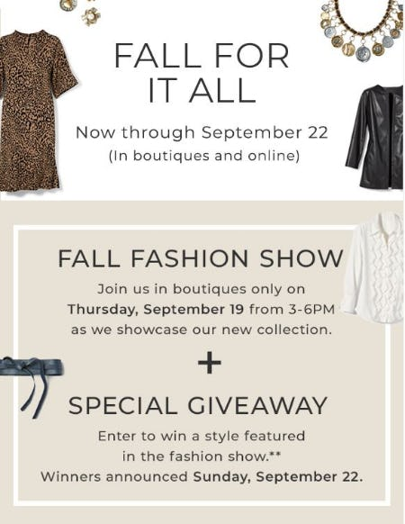 Fall for it All Fashion Event from Chico's