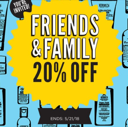 20% Off Your Total Purchase from Kiehl's