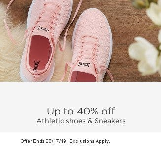 Up to 40% Off Athletic Shoes & Sneakers from Sears