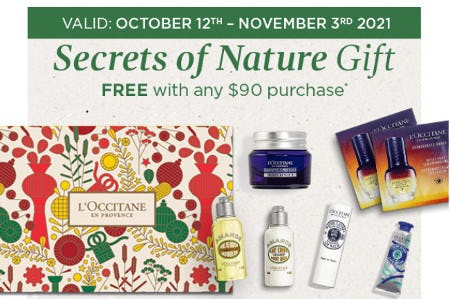 Secrets of Nature Gift Free With Any $90 Purchase